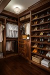 Pretty Shoe Shelves For Closets Closet Traditional with Dark Wood Storage Crown Molding CEILING LIGHT Built-in Drawers Floor High Heels Clothes Rack