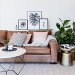 Sparkling Behind Sofa Console Table Living Room Scandinavian with Family Room Fiddle Leaf Fig Leather Lounge Chair Coffee and Side Tables indoor-outdoor Living Family-friendly Geometric Coffee