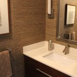 Amazing Grasscloth Wallpaper Bathroom Powder Room Midcentury With N And N