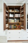 Amazing White Pantry Cabinets Kitchen Traditional with Kitchen Storage Pantry Cupboard Cabinet interior Painted Cornforth White Shaker Walnut Larder