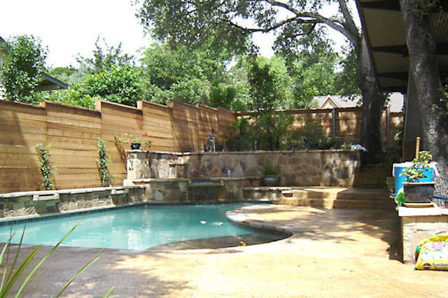 Awesome Pool Fencing Ideas Pool Craftsman With Backyard Privacy Fence And Fenced Backyard Backyard Design Ideas Privacy Fence Backyard Privacy Ideas
