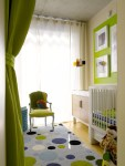 Brilliant Green Boy Nursery Nursery Contemporary with Louis Chair Window Treatments Ideas For Baby Walls Gallery Wall Changing Table Decor Polka Dots Modern Furniture
