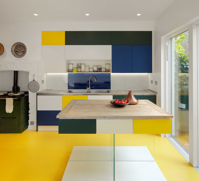 Brilliant Yellow Kitchen Decor Kitchen Contemporary With Glass Door And Bespoke Cabinetry In Vibrant Colours Bespoke Cabinetry In Vibrant Colours