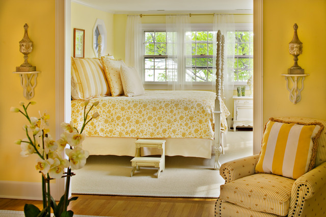 Good-Looking Pale Yellow Curtains And Drapes Bedroom Traditional With Yellow Walls And Night Stand Base Board Carved Wood Crown Molding Four Poster
