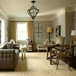 Good-Looking Pale Yellow Curtains And Drapes Living Room Traditional With Wooden Desk And White Wood Crown Molding Dark Floor Decorative Pillows