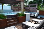 Good-looking Built in Hot Tubs Deck Contemporary with Tub Deck Outdoor Living Ipe Stairs Chicago Roof Furniture Concrete Counters indoor-outdoor Rooftop Perennial Grasses Cedar