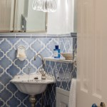Impressive Moroccan Tile Stencil Powder Room Victorian With Moroccan Shutter And Tile Wainscoting French Sink Moroccan Shutter Moroccan Tile Polished