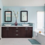Lovely Blue And Green Bathroom Bathroom Contemporary With Double Sinks And Mirrored Doors Beach Themed Bathroom Blue Accents Casual Elegance Cool