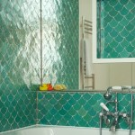 Magnificent Blue And Green Bathroom Bathroom Transitional With Large Mirror And Bright Tiles Blue Green Tiles Bright Large Mirror Scale