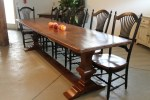 Outstanding Trestle Salvaged Wood Dining Table Dining Room Farmhouse with Farmhouse Tables Rustic Farm Trestles