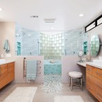 Splendid Walk In Shower Remodel Bathroom Beach Style With Symmetrical And Walk In Showers Beach Decor Coastal Style Custom Mirrors Tile His And Hers