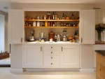 Wonderful Kitchen Cabinet Pantry Ideas Kitchen Traditional with Small Appliances White Bi-fold Doors English Oak Black Granite Larder Wicker Basket