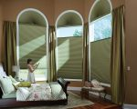 Astonishing Window Treatments For Arched By Accent Window Fashions LLC Other with Traditional Hunter Douglas Duetteu00c2u00ae Architellau00c2u00ae Honeycomb Shades PowerRis Top Down