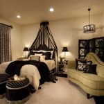 Awesome Black And Green Curtains Bedroom Traditional With Photo Gallery Wall And Tufted Sofa Bed