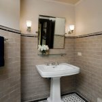 Awesome Toto Promenade Sink Bathroom Traditional With Pivot Mirror And Black And White Floor Tile