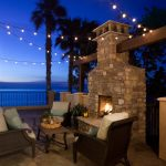 Blooming Moroccan Hanging Lights Patio Mediterranean With Outdoor Fireplace And Waterfront Coastal