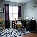 Brilliant Black And Green Curtains Home Office Transitional With Purple Drapes And Green Accents