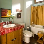 Delightful Vintage Bathroom Floor Tile Bathroom Eclectic With Modern Rustic And Mosaic Tile Bath