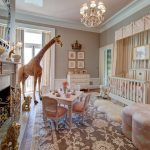 Imaginative Giraffe Bedroom Traditional La Petite Rose Nursery With Chandelier And Chinoiserie