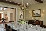 Lovely Sage Green Dining Room Dining Room Traditional with Persian Rug COLONIAL HOME Centerpiece Country Style Oriental Candlesticks Historic Home Reclaimed Wood Beams Paint