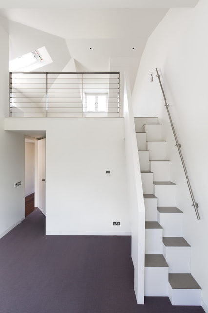 Lovely Wooden Handrail Design Staircase Contemporary With Steps   White Stairs With Wood Steps   Light Wood   White Riser   Outdoor   Dark   Traditional