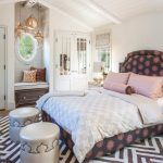 Pretty Moroccan Hanging Lights Bedroom Beach Style With Soft Palettes And Warm Woods Herringbone Rug