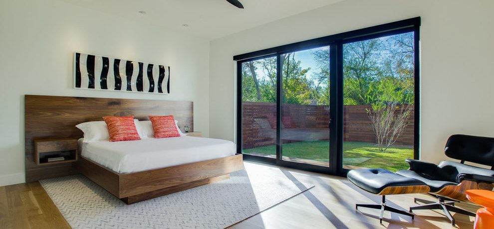 Sparkling Decorating Italian Farmhouse Bedroom Contemporary With Walnut Bed And Minimalist Black And