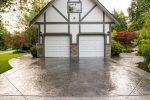 Sparkling Stamped Concrete Vs Patio Craftsman with Large Pattern Driveway Patio Craftsman Garage Stamped