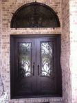 Splendid Rod Iron Fence Entry Southwestern with Hand Forged Doors Security Wrought Double Entry Single