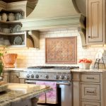 Awesome Blue China Cabinet Kitchen Traditional With Subway Tile And Wood Vent Hood Cabinet Design