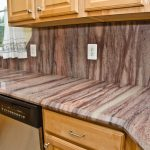 Awesome Wild Sea Granite Countertop Kitchen Traditional With Mauve Granite And Stainless Steel Range
