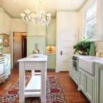 Fabulous Cedar Key Benjamin Moore Kitchen Victorian With Painted Cabinets And Murano Chandelier