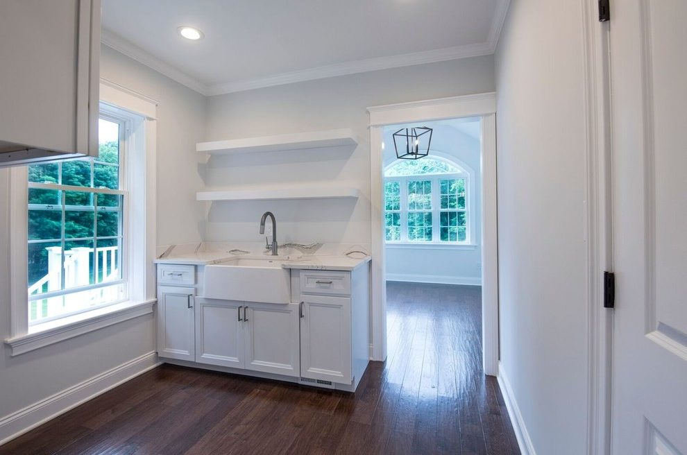 Glorious Kraftmaid Laundry Room Cabinets Laundry Room Transitional With White Counter And White