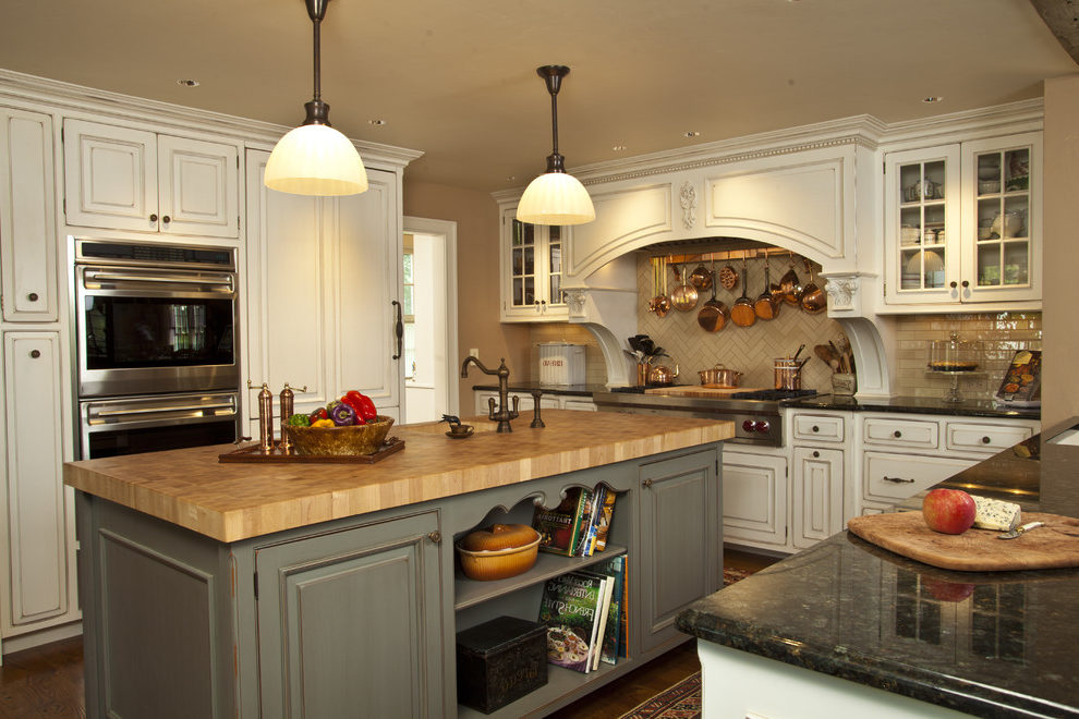 Good-Looking Fluorescent Wall Paint Kitchen Rustic With Island Lighting And Subway Tile Backsplash