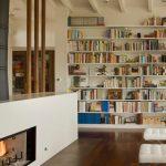 Good-looking Floor To Ceiling Bookshelves Living Room Midcentury With Room Dividers And Leather