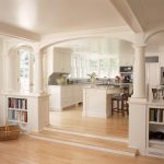 Lovely Floor To Ceiling Bookshelves Kitchen Traditional With Wood Flooring And Built In Shelves