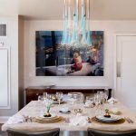 Magnificent Kitchen Drapes Pictures Dining Room Contemporary With Neutral Colors And Pantry Door