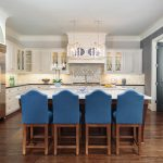 Marvelous Blue China Cabinet Kitchen Traditional With Grasscloth Wallpaper And Glass Cabinets Black
