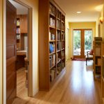 Marvelous Floor To Ceiling Bookshelves Hall Contemporary With Custom Shelves And Neutral Colors