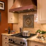 Outstanding Mocha Color Paint Kitchen Traditional With Granite Countertops And Beige Cabinets Accent