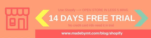 14 days free trial of shopify