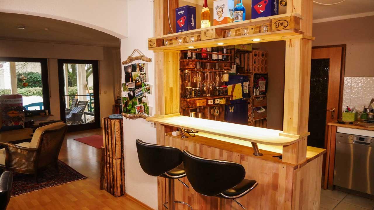 Theke Bar selber bauen  Made by myself  Dein DIY Heimwerker Blog