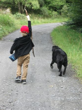 One boy and his dog.