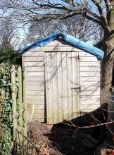 Disintegrating shed