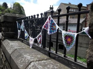 My bunting on display.