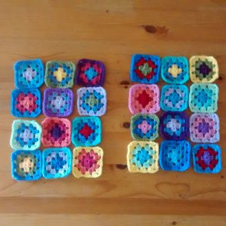 Completed squares.