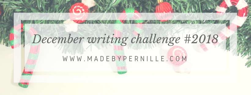 December Christmas themed writing challenge made by pernille