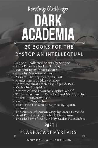 Dark Academia Reading Challenge