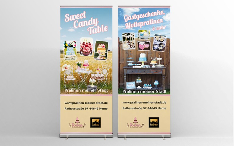 Banner design for trade fairs // Banner design voor beurzen