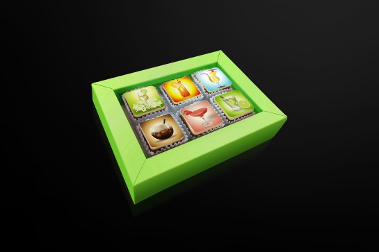 Realistic Illustration Pralines Package